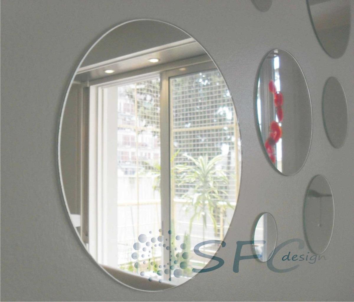 espejos redondos circulares para tu living comedor silln