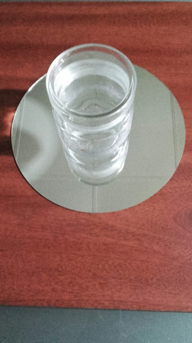 espejos redondos p/centro de mesa 18cm de diam bordes pulido