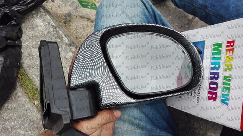 espejos retrovisores deportivos escualizables carbono x 2