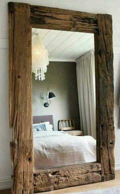 Espejos r sticos en mercado libre for Marcos para espejos de madera rusticos