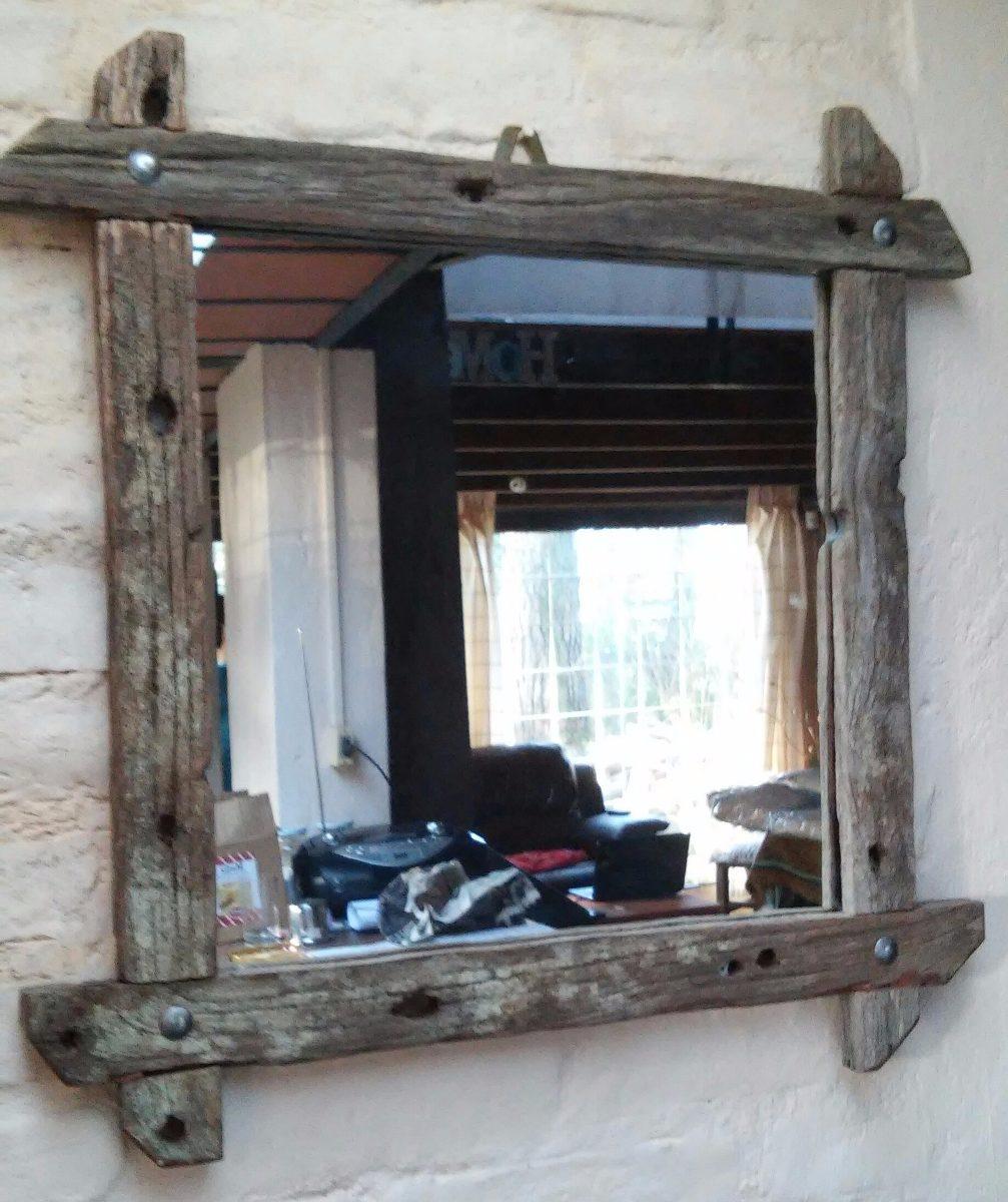 Espejos Rusticos En Madera De Pique Antigua 1 200 00 En  # Muebles Hechos Con Piques