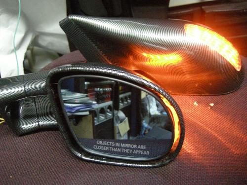 espejos tuning electricos direccionales pintura carbono