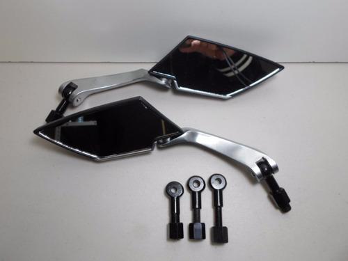 espejos universales de moto scooter, motoneta china 8 o 10mm