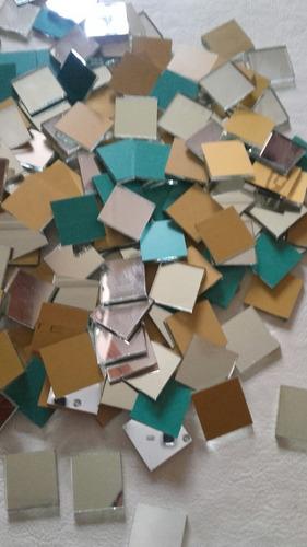 espejos venecitas de 2x2(420und) y 1x1(500und) artesanias.