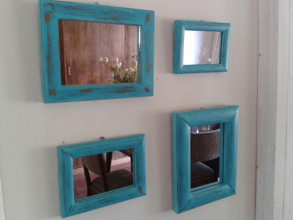 Espejos vintage color turquesa en mercado libre for Espejos vintage