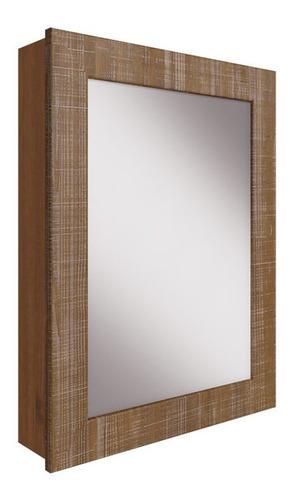espelheira para banheiro mogno natural sobrepor artemobili