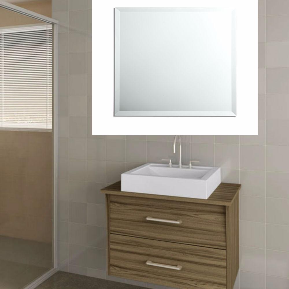 Espelho 40 x 40 cm com bisot 2 cm banheiro promo o r for Finestra 40 x 40