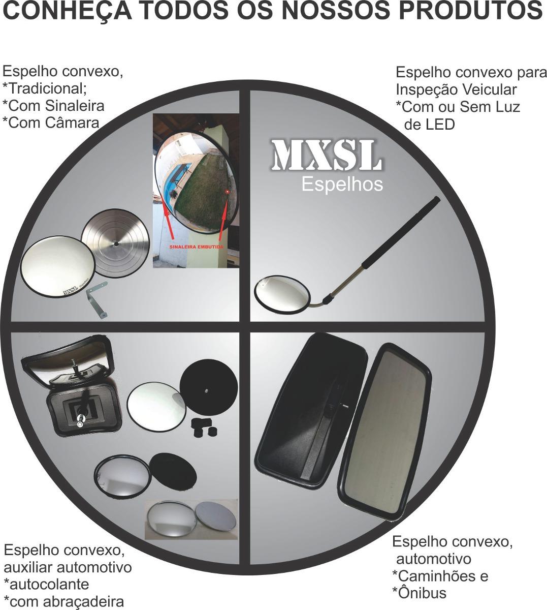 Espelho 60cm Convexo Aluminio Estacionamento Ou