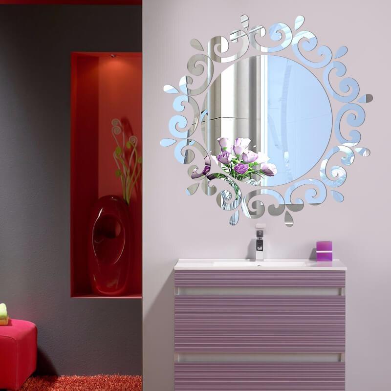 e98fb75b3 Espelho Acrilico Decorativo Redondo Moderno