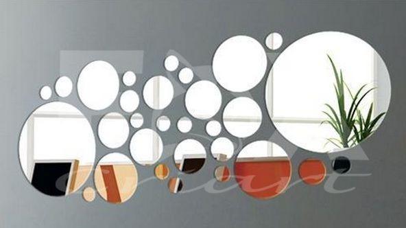 Artesanato Gaucho ~ Espelho Adesivo 3d Círculos 30pcs Decoraç u00e3o Criativa R$ 123,80 em Mercado Livre