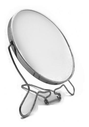 espelho aumento dupla face inox barbear maquiagem mesa retro