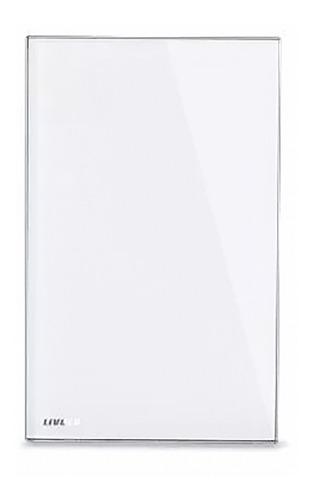 espelho cego livolo acabamento vidro branco com suporte