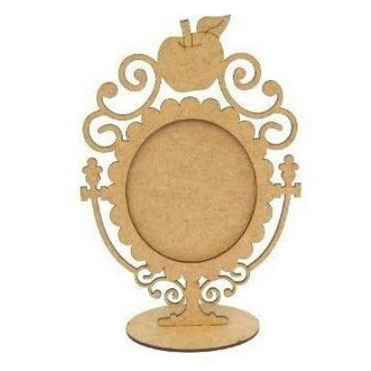 espelho centro mesa branca neve foto decoração festa maça