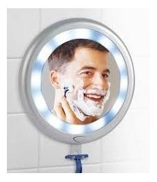 espelho chuveiro led porta barbeador depilação barba parede