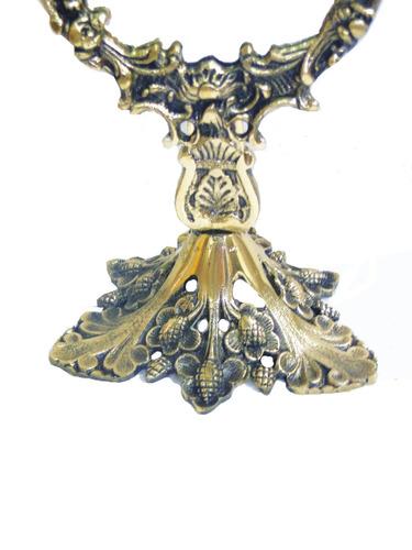espelho colonial de maquiagem moldura em bronze com espelho