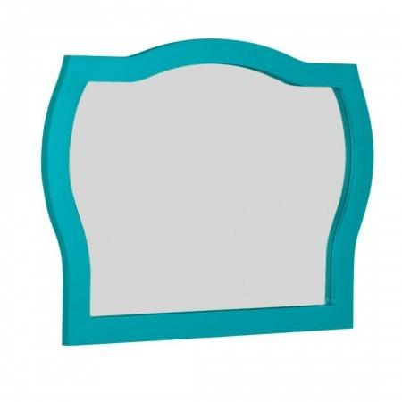 espelho com moldura para quarto banheiro ou sala turquesa