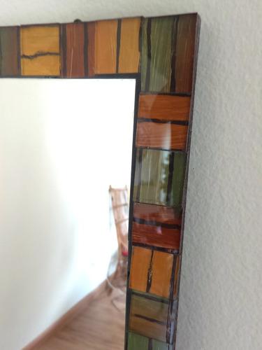 espelho cristal bisotê moldura mosaico vidro pintado à mão