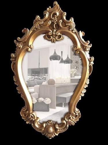 espelho cristal bisotado moldura em resina