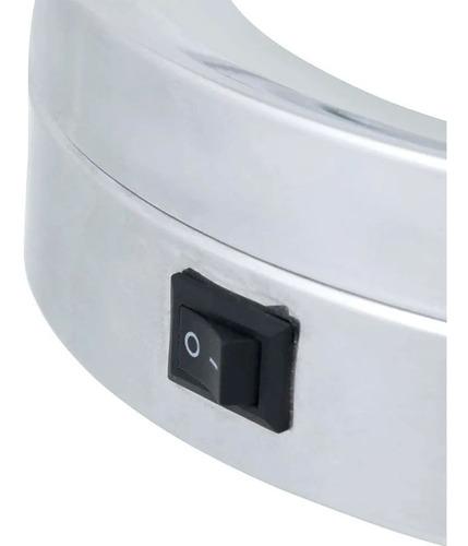 espelho de banheiro aumento luz de led dupla face e suporte
