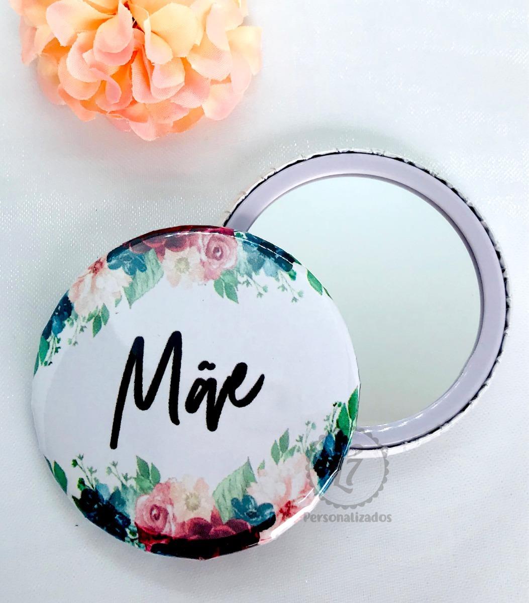 b676a42ef Espelho De Bolsa Personalizado Dia Das Mães Kit Com 50 Un - R  89