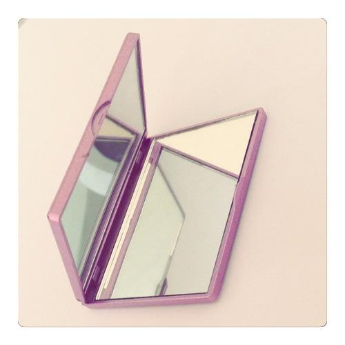 espelho de bolsa rosa espelho dos dois lados brindes