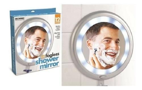 espelho de chuveiro anti embacante iluminado porta barbeador