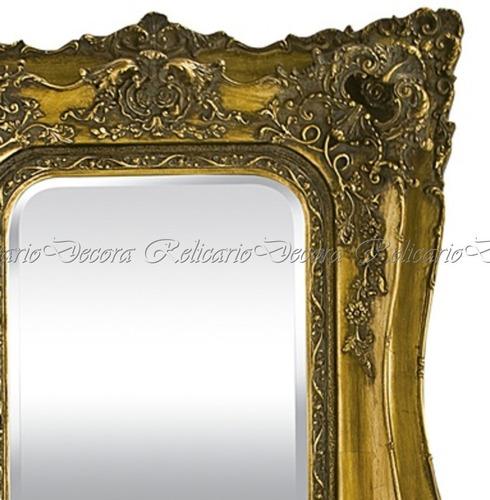 espelho de cristal comprido design classico rico em detalhes