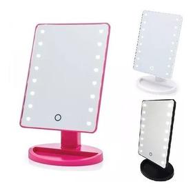 Espelho De Mesa Luz Led Em Volta P/ Maquiagem Portátil