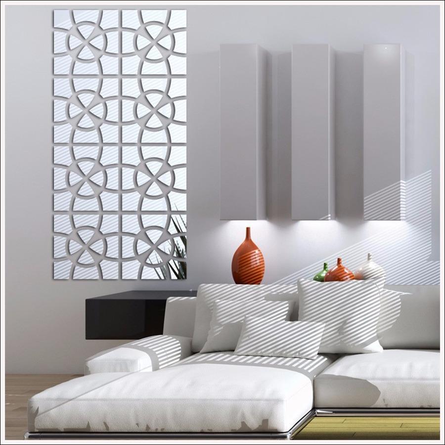 Espelho De Parede Para Quarto Modelo Círculo Mosaico 202x49