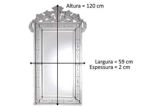 Espelho Decorado Para Quarto Retangular Grande R 119900 Em