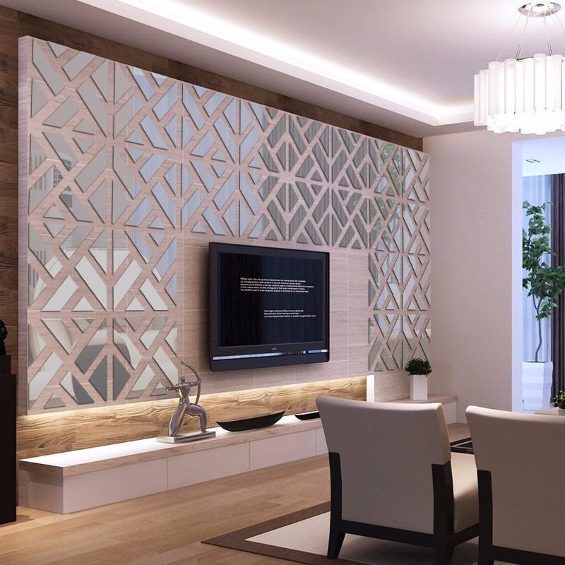 Espelho decorativo acr lico 1 60x0 40m sala quarto painel Old home interior pictures value