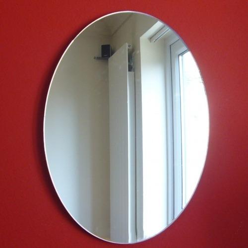 Espelho Decorativo Acrílico Formas Geométricas  R$ 28,99 em Mercado Livre -> Armario De Banheiro Com Espelho Oval