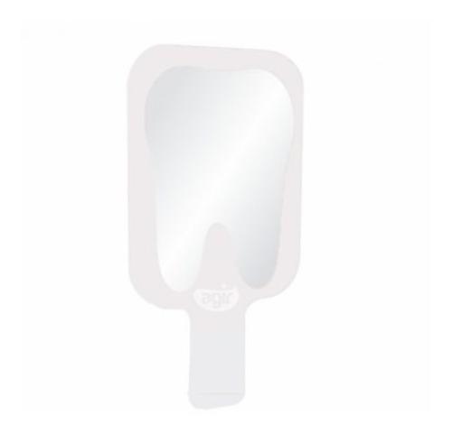 espelho decorativo agir de mão tema dente e boca em acrílico