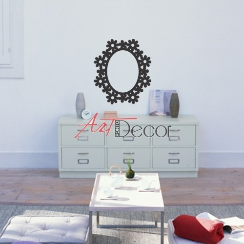 espelho decorativo com moldura elegante floral sala e quarto