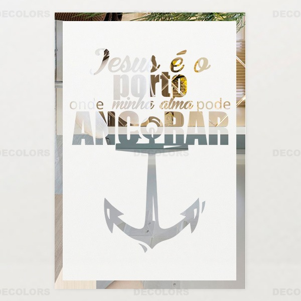 Espelho Decorativo Frase Motivacional Bíblica Presentar R 8990