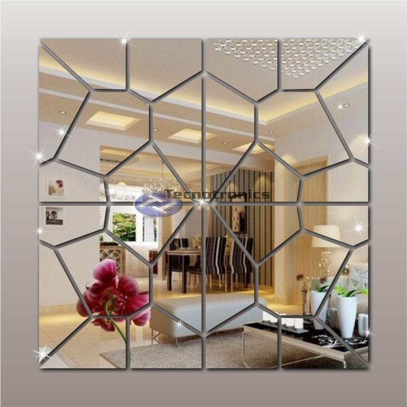 9622ecbcb Espelho Decorativo Geométrico Acrílico 1