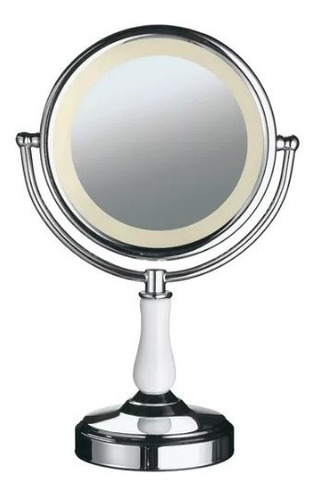 espelho dupla face iluminação led para maquiagem barba luxo