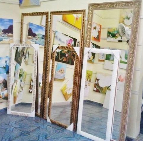 espelho grande 170x100cm c/moldura frete grátis p/gd s paulo