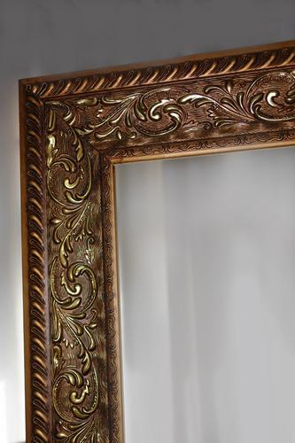 espelho grande moldura em madeira trabalhada 1,70 x 0,70