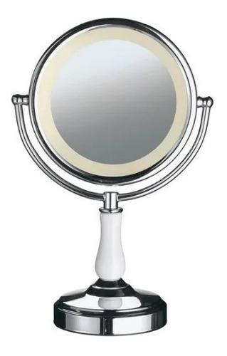 espelho luz led p/ maquiagem banheiro camarim c/ zoom barba