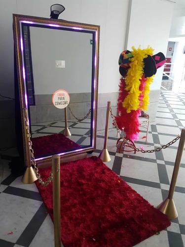 espelho mágico e cabine fotográfica (locação)