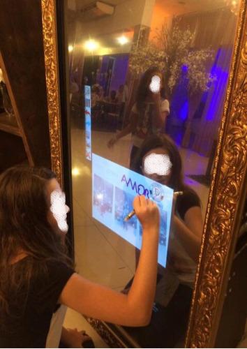 espelho mágico ou cabine de fotos para locação