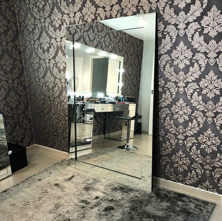 Espelho Modelo Etna 90x200 Chão Ou Parede