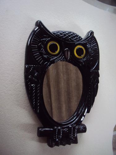 espelho moldura coruja (peça menor).
