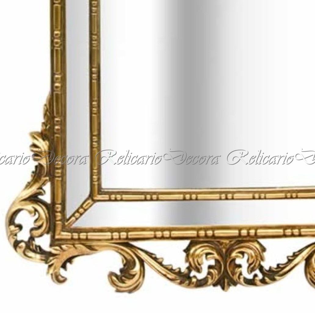 Compre Armário Classic Líder Design Vermelho: Espelho Moldura Design Classico Detalhes Unicos Dourado