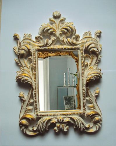 espelho moldura ramada 2, estilo provençal, decoração.