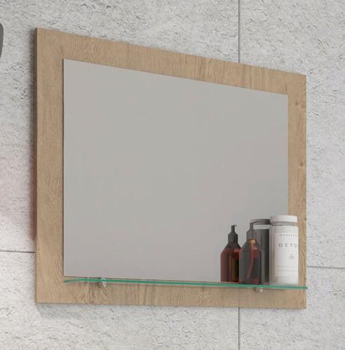 espelho para banheiro barcelona 60 cm carvalho