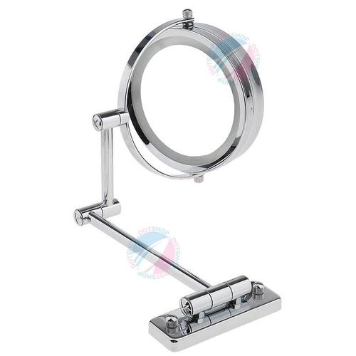 espelho parede com luz led aumento 5x dupla face maquiagem