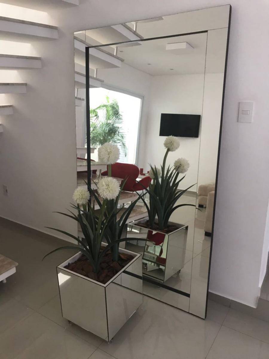 Espelho Reto Modelo Etna Chão Ou Parede 90x190cm