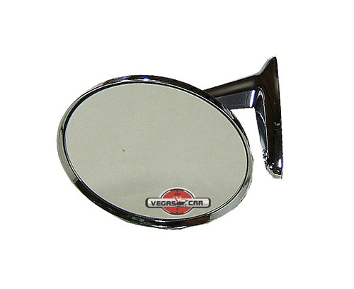 espelho retrovisor cromado redondo estilo opala,corcel